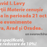Vizita prof. dr. David Levy in Romania